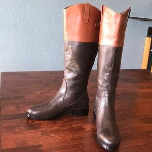 Halston Heritage Brown On Brown 5.5M Riding Boots